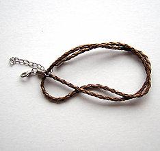 Iný materiál - Koženková pletená šnúrka - 6417453_
