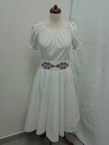 Šaty - Folk  krátke svadobné šaty s červeným srdcom - 6416394_
