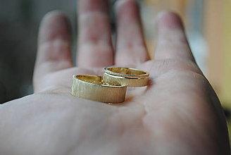 Prstene - Slnečný kúpeľ - zlatá obrúčka - 6422504_