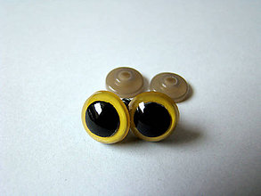 Komponenty - Žlté bezpečnostné oči 12mm/ 1KS - 6423664_