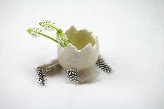 Dekorácie - Keramické vajíčo - váza alebo svietnik - 6420541_