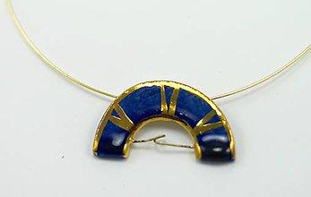 Náhrdelníky - modrý prívesok - 6420672_