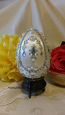 Dekorácie - Fabergé vajíčko biele - 6419069_