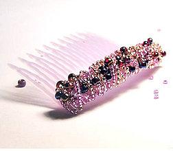 Ozdoby do vlasov - Violet & Pink /S0010 - 6419199_