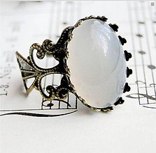 Prstene - Vintage Grey Agate - 6420279_