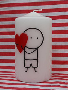 Svietidlá a sviečky - panáčik chlapec - 6421493_