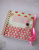 Papiernictvo - Denníček ružový - 6422336_