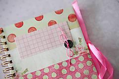 Papiernictvo - Denníček ružový - 6422337_
