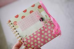 Papiernictvo - Denníček ružový - 6422338_