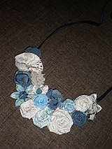 Náhrdelníky - Belasý náhrdelník - 6419821_