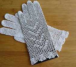Rukavice - Rukavičky biele - 6423009_