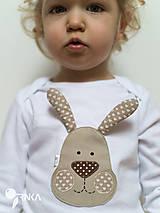 Detské oblečenie - body ZAJKO UŠKO (dlhý/krátky rukáv) - 6423634_