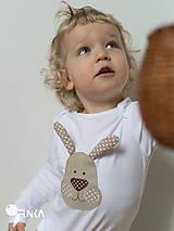 Detské oblečenie - body ZAJKO UŠKO (dlhý/krátky rukáv) - 6423635_