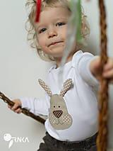 Detské oblečenie - body ZAJKO UŠKO (dlhý/krátky rukáv) - 6423636_
