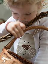 Detské oblečenie - body ZAJKO UŠKO (dlhý/krátky rukáv) - 6423642_