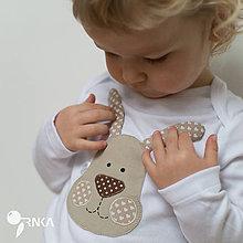 Detské oblečenie - body ZAJKO UŠKO (dlhý/krátky rukáv) - 6423637_