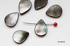 Korálky - perleť  18 x 13 mm - 6422197_