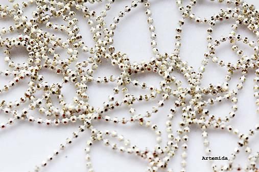 e91554831 Retiazka guličková zlato-biela / artemida - SAShE.sk - Handmade ...