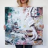 Obrazy - Som nepopísaná kniha. 60x60, reprodukcia - 6419662_