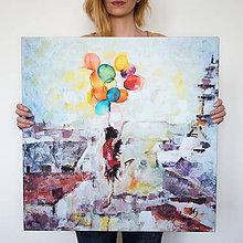 Obrazy - Balóny namiesto krídel. 60x60, reprodukcia - 6419657_