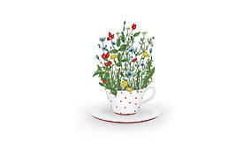Grafika - Šálka čaju - Liečivé pohladenie -30% - 6423267_