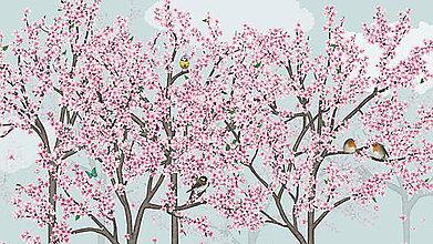 Grafika - Vtáčí les - jar - 6421856_