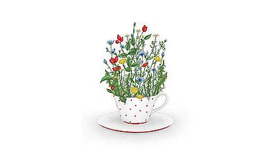 Grafika - Šálka čaju - Liečivé pohladenie - 6423267_