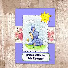 Papiernictvo - Veľkonočná pohľadnica Ružičková - 6420940_