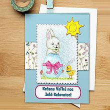 Papiernictvo - Veľkonočná pohľadnica Jemná - 6421770_