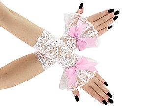 Rukavice - Svadobné bielé čipkové rukavice pre nevestu 02tP - 6427818_