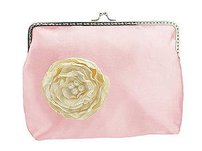 Taštičky - Svadobná kabelka růžová, kabelka pre nevestu 1485 - 6428222_