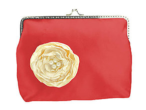 Taštičky - Svadobná kabelka červená,kabelka pre nevestu 1485 - 6428240_