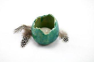 Svietidlá a sviečky - Keramické vajíčo - váza alebo svietnik - 6423972_