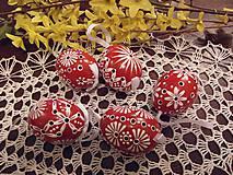 Dekorácie - Veľkonočná kraslica červená - 6425960_