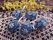 Dekorácie - Veľkonočná kraslica modrá - 6426077_