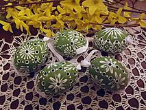 Dekorácie - Veľkonočná kraslica zelená - 6426090_