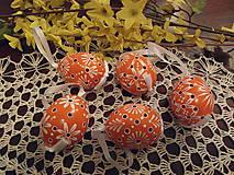 Dekorácie - Veľkonočná kraslica oranžová - 6426281_