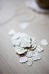 Papiernictvo - Svadobné konfety - text - 100ks (výzdoba) - 6425716_