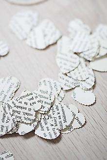 Papiernictvo - Svadobné konfety - text - 100ks (výzdoba) - 6425717_