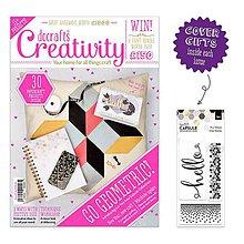 Návody a literatúra - Creativity časopis č. 66 + 3ks razítok a 2ks čipiek - 6424096_