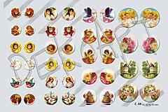 Materiál ručne robený - Motívy na šperky č.44- akcia 4+1 zdarma na všetky motívy - 6424531_