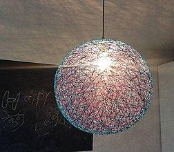 Svietidlá a sviečky - Špagátový melír - 6428050_
