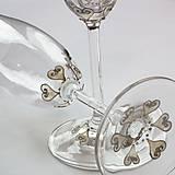 Nádoby - Svadobné poháre Hearts - 6424150_