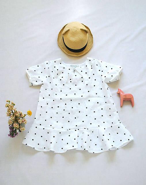 Šaty OLIVIA bodkové - DOPREDAJ
