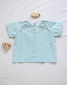 Detské oblečenie - Košieľka OLIVER modrá - dopredaj - 6426059_
