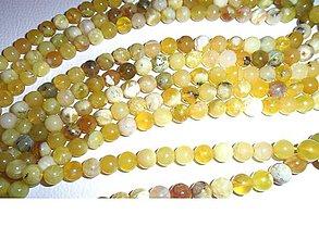 Minerály - opál žltý korálky 8mm, cena za 10ks - 6425128_