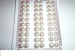 Minerály - perly na náušnice polvŕtané 8mm - 6425677_