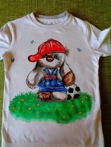 Detské oblečenie - maľované tričko havko - 6427194_