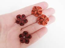 Náušnice - Kvetinky medené - náušnice - 6428236_