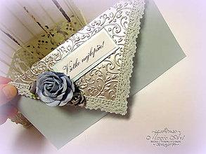 Papiernictvo - Obálka na peniažky - Ruža pre gentlemana - 6425262_